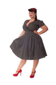 You'll find the best selection of retro and vintage, Audrey Hepburn and Marilyn Monroe dresses, retro shoes and swimwear, pin up accessories, picked for you Curvy Fashion, Look Fashion, Retro Fashion, Plus Size Fashion, Girl Fashion, Fashion Dresses, Vintage Fashion, Womens Fashion, Look Plus Size
