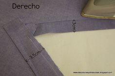 planchado-escote Sewing Basics, Sewing Hacks, Sewing Tutorials, Tutorial Sewing, Sewing Clothes, Diy Clothes, Sewing Collars, Shirt Hacks, Sewing Circles