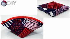 ファスナーポーチの作り方 - YouTube Japanese Patterns, Zipper Pouch, Fabric Crafts, Zip Around Wallet, Coin Purse, Youtube, Pouches, Appetizers, Diy