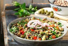 Greek Recipes, Diet Recipes, Vegan Recipes, Pasta Salad, Cobb Salad, Food Categories, Mediterranean Recipes, Food Styling, Sweet Home