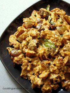 Kathirikkai Kariamudhu   Kathirikai Curry Recipe