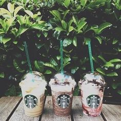 Image about summer in Starbucks Coffee & Drinks ^-^ by Starbucks Coffee, Starbucks Secret Menu, Starbucks Drinks, Coffee Drinks, Starbucks Frappuccino, Starbox Coffee, Coffee Truck, Coffee Beans, Basic White Girl