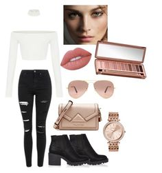 """""""sophisticated chic"""" by wanderlustgal on Polyvore featuring River Island, Topshop, Karl Lagerfeld, MICHAEL Michael Kors, Ray-Ban, Burberry, Urban Decay and Lime Crime"""
