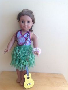 American Girl Doll Hula Outfit