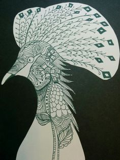 Goura cristata(RED LIST ANIMALS) drawing by RINA  http://spiraleffect.blogspot.jp