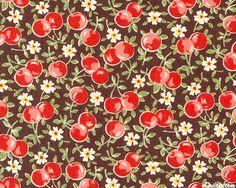Japanese Import - Vintage Cherries - Coffee Brown