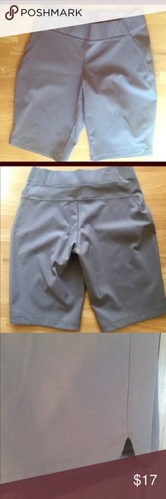 Columbia Shorts These lightweight, light gray shorts are great for hiking or any outdoor activity! With Omni-Shield protection and Advanced Repellant these shorts dry quickly and help protect from UV rays. Stretchy and comfortable. Brand new! Only time I've worn them is to try them on and they are a bit loose on me now. Color is more like the first and third photo. Columbia Shorts