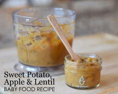 Sweet Potato, Apple and Lentil Baby Food Recipe - yummy, healthy and delicious Stage 2 Puree for Baby!