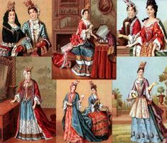 Women costumes under the reign of Louis XIII