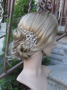 Bridal hair combbridal hair accessorieswedding hair por sustyle88, $49.00