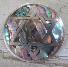 Abalone Sterling Brooch from Mexico by mimiyaya on Etsy, $32.00