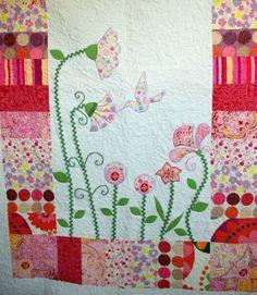 Riona: Narzuta - pachwork dla dziewczynki - w kwiaty. Pachwork for girls - in the flowers