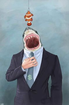 Satirical illustrations by Luis Quiles