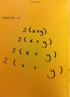 Expand 2(x+y)...