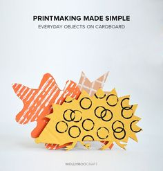 Art Ideas For Kids – Cardboard Printmaking. Your children will love 'making their mark' with everyday objects from around the house // http://MollyMooCrafts.com
