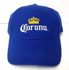 CORONA CROWN HAT Blue Beer Structured Fit Curved Bill Low Profile Men Women  EUC!  Corona  BaseballCap 424476b1f44b