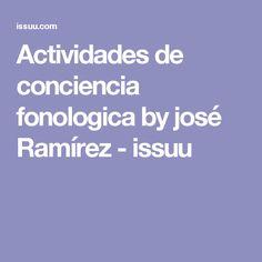 Actividades de conciencia fonologica by josé Ramírez - issuu