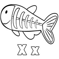 X-ray Fish Coloring Pages | A to Z animals | Fish coloring ...