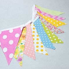 Bunting Garland Flags, Easter Decorations, Colorful Fabric Banner, Spring Home Decor,  Nursery deco, Photo prop