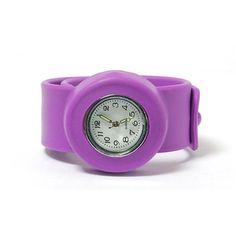 Kids Slap On Purple Quartz White Dial Watch SWK-010
