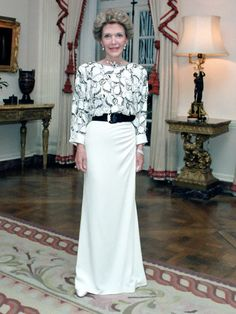 Nancy Reagan white dress