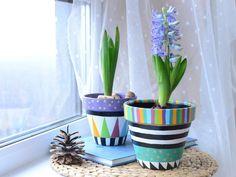 Terracotta Flower Pots, Painted Flower Pots, Painted Pots, Hand Painted, Paint Garden Pots, Ceramic Vase, Emerald, Planters, Clay