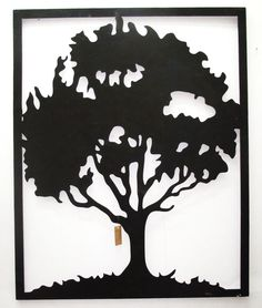 Outdoor Wall Art Laser Cut Steel Tree in Frame from Earth Homewares