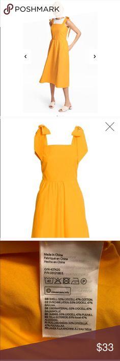 NWT H&M Golden Yellow Dress Size 4, NWT H&M Dresses Asymmetrical