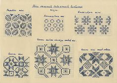 Estonian knit patterns - they are even more incredible when hand drawn. Or perhaps I'm just a sucker for anything that takes a loooooong time