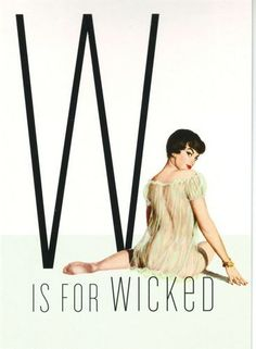 """Classic pin- up girl 1950s : """"W is for Wicked"""""""