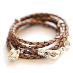 Blossom Leather wrap bracelet in Brown by BijouxBar