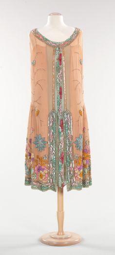 Evening dress  Date: 1925 Culture: French Medium: silk, plastic