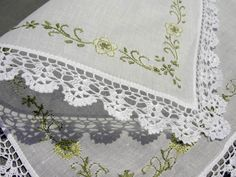 handkerchiefs to embroider | color hand embroidery flower lace edging Hankies