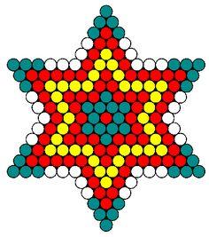 Colorful Star Perler Bead Pattern / Bead Sprite
