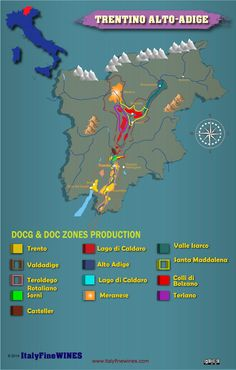 Trentino Alto Adige wine region -italy  with details of doc and docg appellations. Download it at www.italyfinewines.com