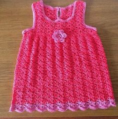 See this work in crochet. It is a beautiful dress for girls. | Crochet patterns free
