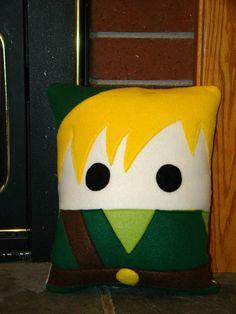 Link pillow Legend of Zelda plush pillow throw by telahmarie, $30.00