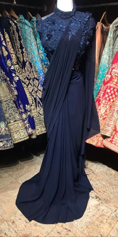 We aspire to create a platform that gives our customers a memorable shopping experience. Custom made and Worldwide shipping Available . Saree Gown, Satin Saree, Sari Dress, Trendy Sarees, Stylish Sarees, Fancy Sarees, Saree Designs Party Wear, Saree Blouse Designs, Dress Designs