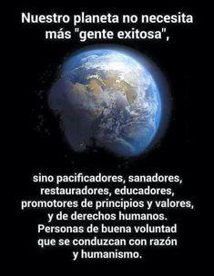 Un planeta con valores