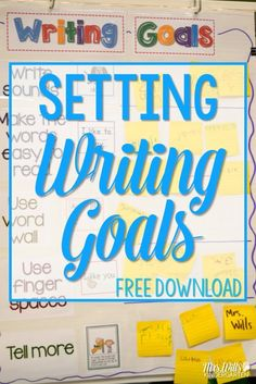 Setting Writing Goal