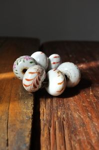 Antique handpainted porcelaine doorknobs