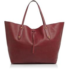 Annabel Ingall Isabella Large Leather Tote (630 AUD) ❤ liked on Polyvore featuring bags, handbags, tote bags, bordo, tote handbags, red leather tote bag, leather tote bags, leather tote handbags and tote purses