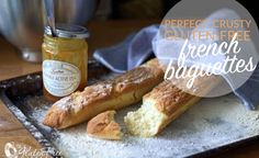 The Best Gluten-Free French Baguette Bread Recipe! This bread is crusty and light, and SO close to the real thing! :) #glutenfree #celiac #coeliac #bread