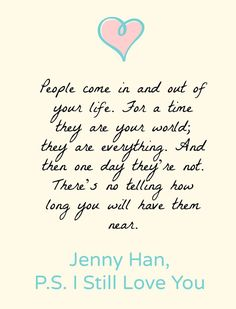 Lara Jean, I Still Love You Quotes, Ps I Love You, Jenny Han Books, Favorite Movie Quotes, Favorite Things, Love Yourself Quotes, Amazing Quotes, True Quotes