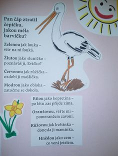 jarní básničky - Hledat Googlem Spring Activities, Toddler Activities, Kids And Parenting, Childhood Memories, Kindergarten, Preschool, Education, Logos, Children