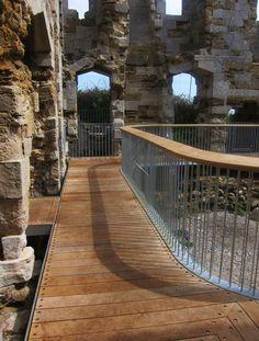 Levitate inserts oak walkway inside shell of ruined castle