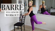 Tone arms, legs, booty and abs with this total body full length BARRE Workout! Switch up your routine by adding in barre fitness to challenge your body in ne...