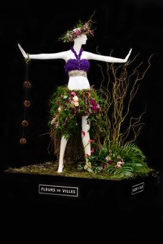Created by Cerise Floral Studio for Prairie Gardens Mannequin.