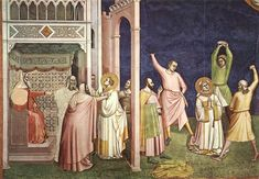 Bernardo Daddi (c. 1280 – 1348) was an early Italian Renaissance painter and the leading painter of Florence of his generation.   The Martyrdom of St Stephen 1324 Fresco Santa Croce, Florence