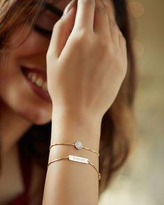 Diamond Jewellery, Jewellery Designs, Bangles, Bracelets, Jewelry Collection, Minimalist, Jewels, Diamond Jewelry, Jewerly